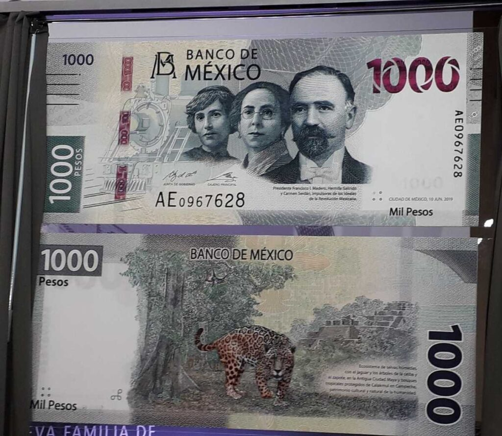 Billete nuevo de mil pesos