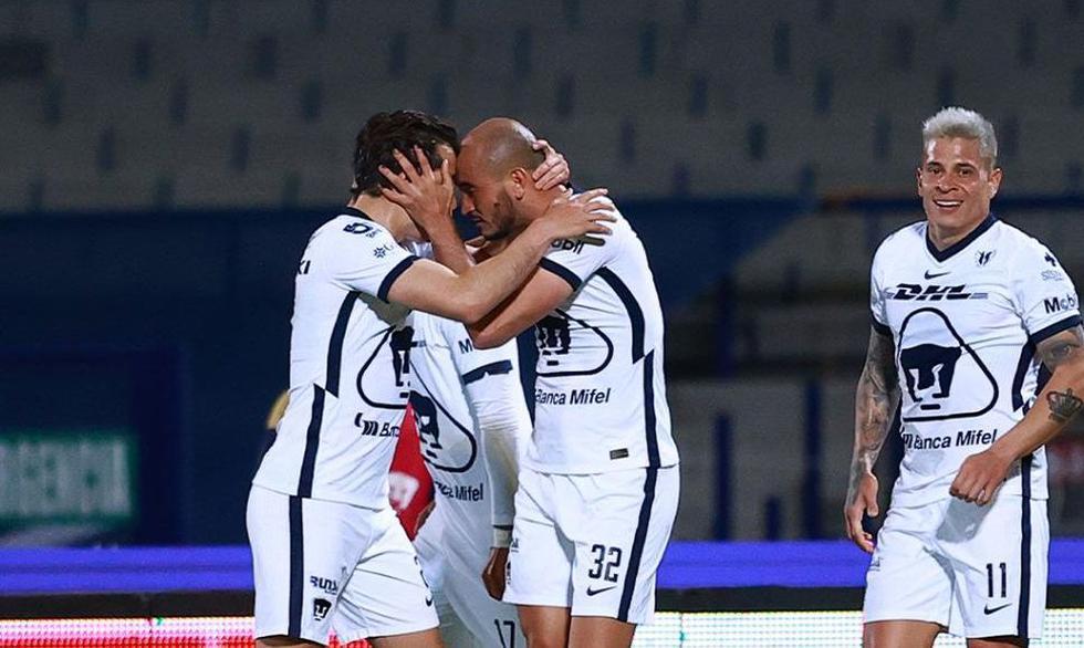 Pumas anota un gol tras el primer minuto del partido